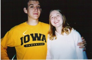 Freshman year, my first bowl trip with the HMB, on the beach in Florida on New Years Eve with a friend from a high school science camp