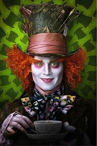 Johnn Depp as the Mad Hatter