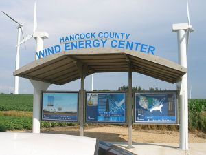 Wind farm in Hancock County